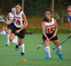 Reading High School field hockey players