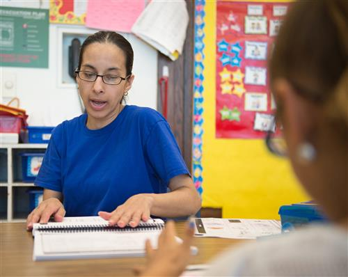 Paraprofessional in a classroom